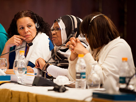Grantee partners at the MENA regional convening in 2014