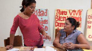 Maria Fernanda Pineta Calero from Asociación de Mujeres Constructoras de Condega (AMCC) in Condega, Nicaragua on August 18, 2015. Photo credit: Bénédicte Desrus