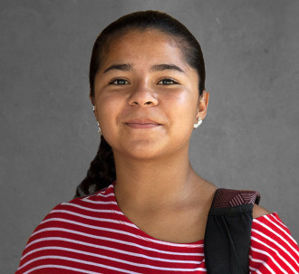 Portrait of Maria Fernanda, 16-year-old activist