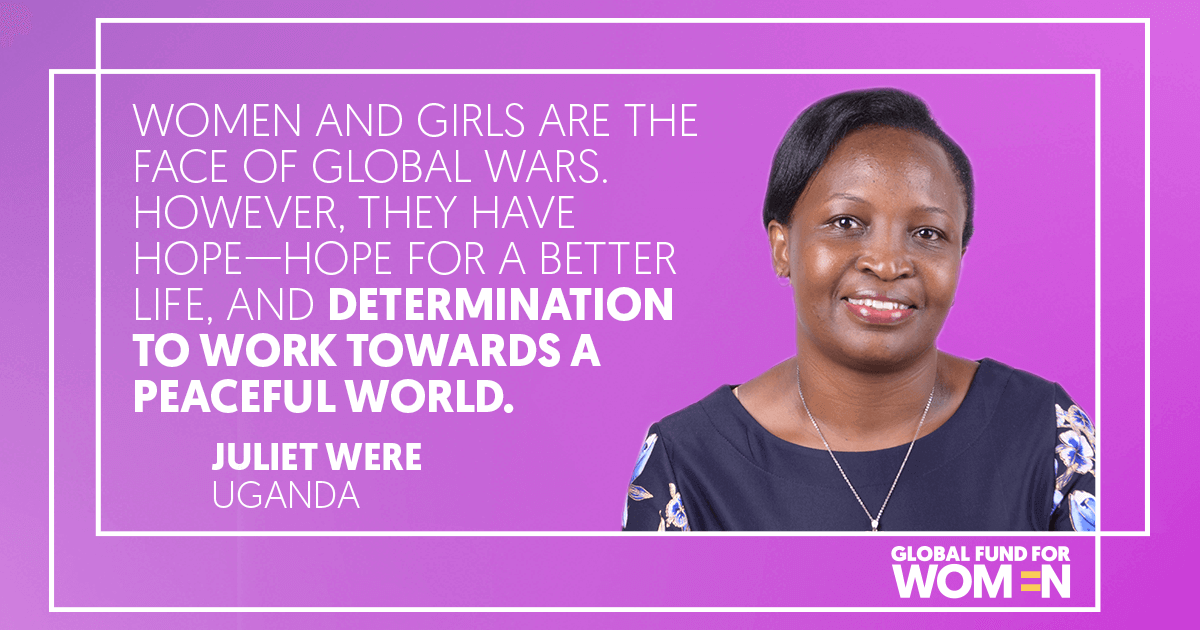 Women and girls are the face of global wars. However, they have hope – hope for a better life, and determination to work towards a peaceful world.