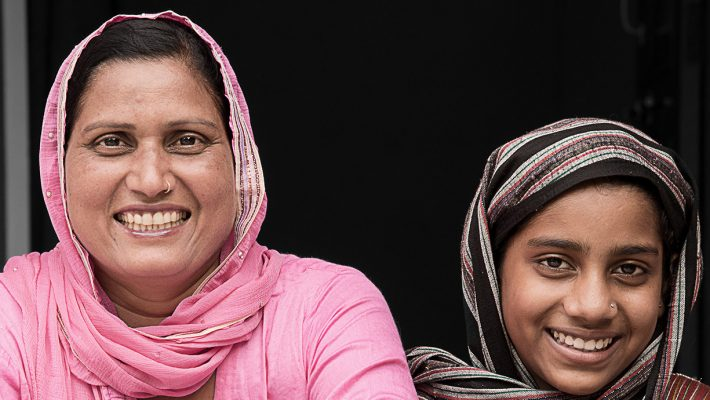 Rufa and one of the Muslim girls in her group