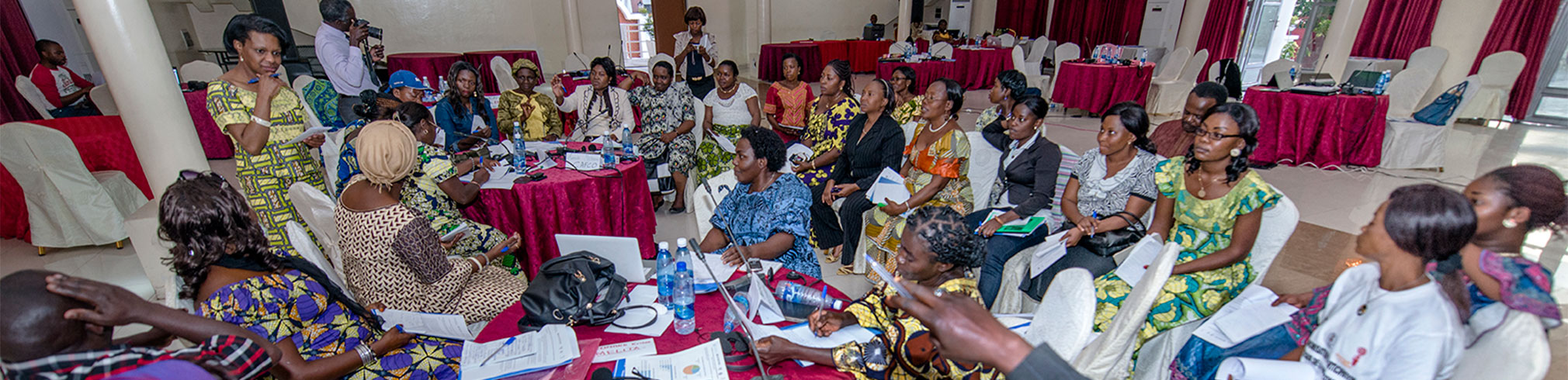 Participants at the convening in Congo in a breakout group discussion