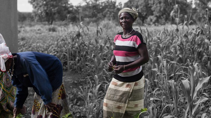 Yeri with some of the other women farmers in her community