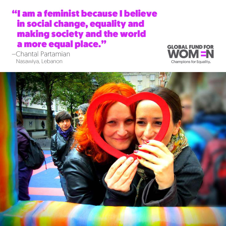 I am a feminist because I belive in social change, equality, and making society and the world a more equal place.