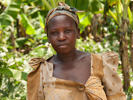 ARUWE beneficiary among her crops