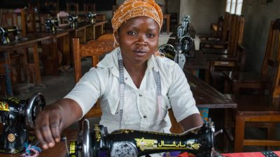 Woman who survived rape in Congo's conflict learns new job skills. Photo copyright Alison Wright