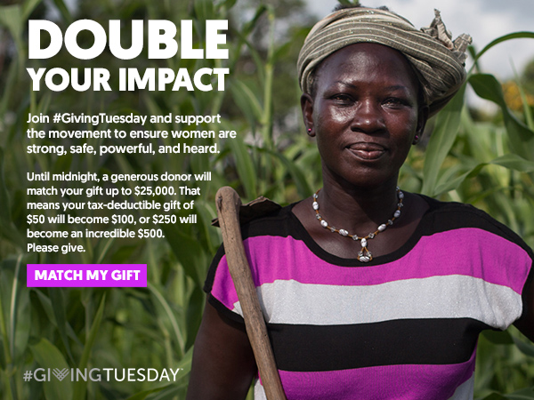 DOUBLE YOUR IMPACT. Join #GivingTuesday and support 