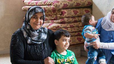 Noha and three of her children