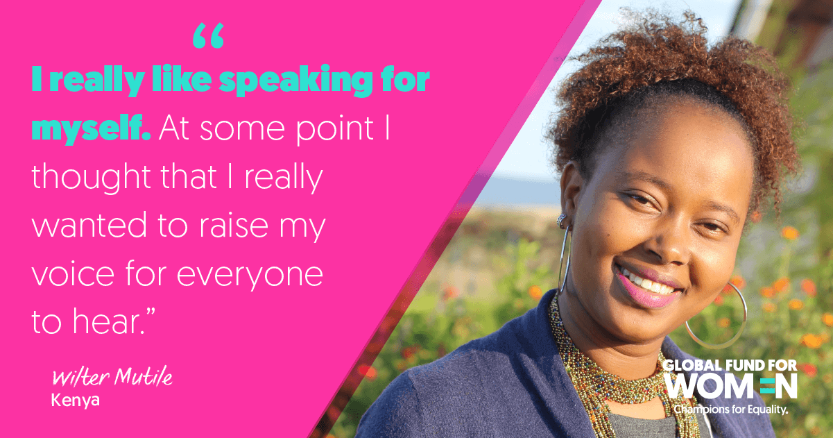"""I really like speaking for myself. At some point I thought that I really wanted to raise my voice for everyone to hear."" –Wilter Mutile, Fortress of Hope, Kenya"