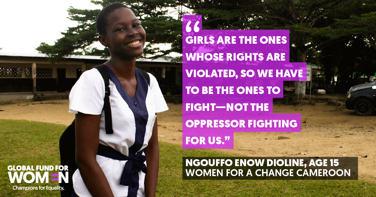 """""""Girls are the ones whose rights are violated, so we have to be the ones to fight—not the oppressor fighting for us."""